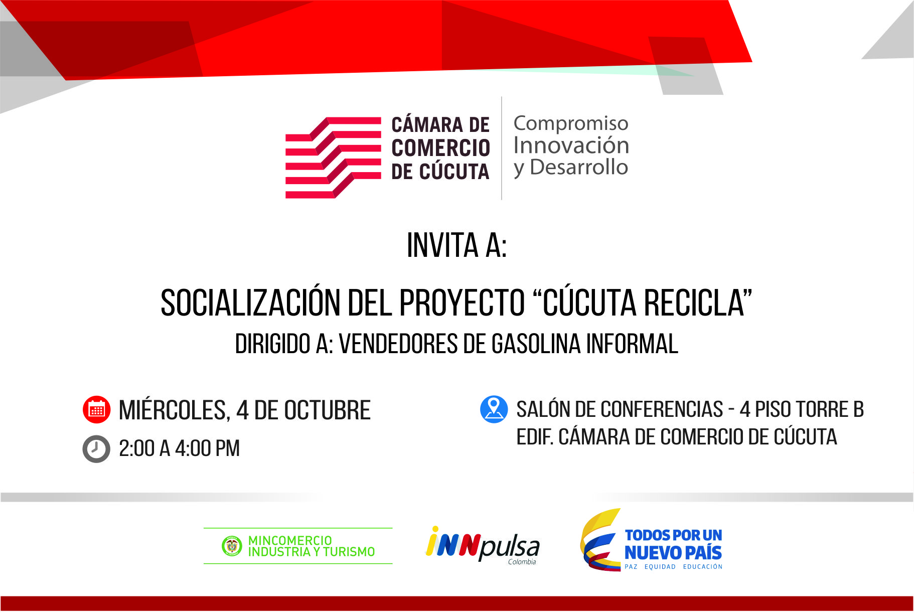 Convocatoria Cúcuta Recicla