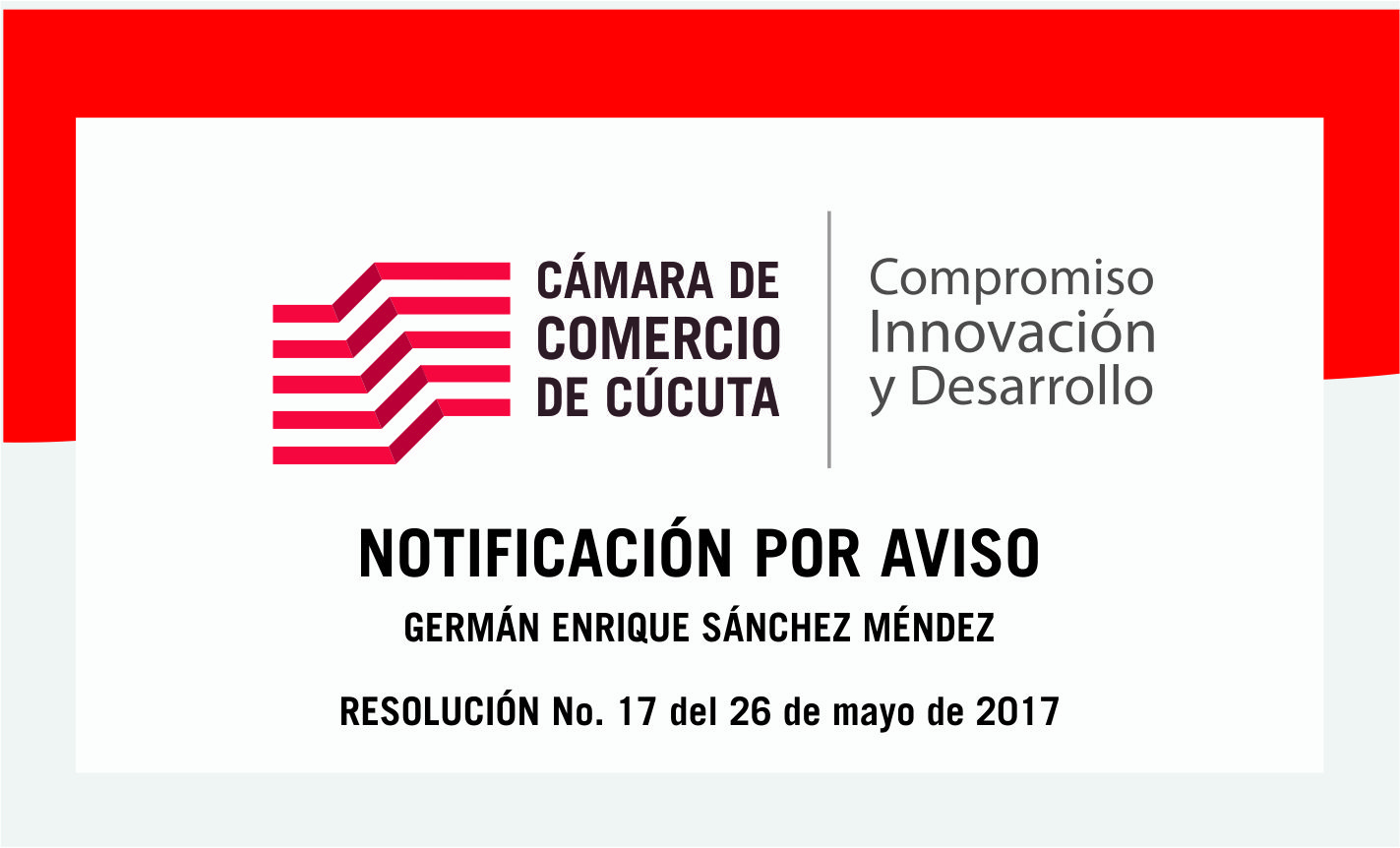 Notificación por aviso a GERMAN ENRIQUE SANCHEZ MENDEZ