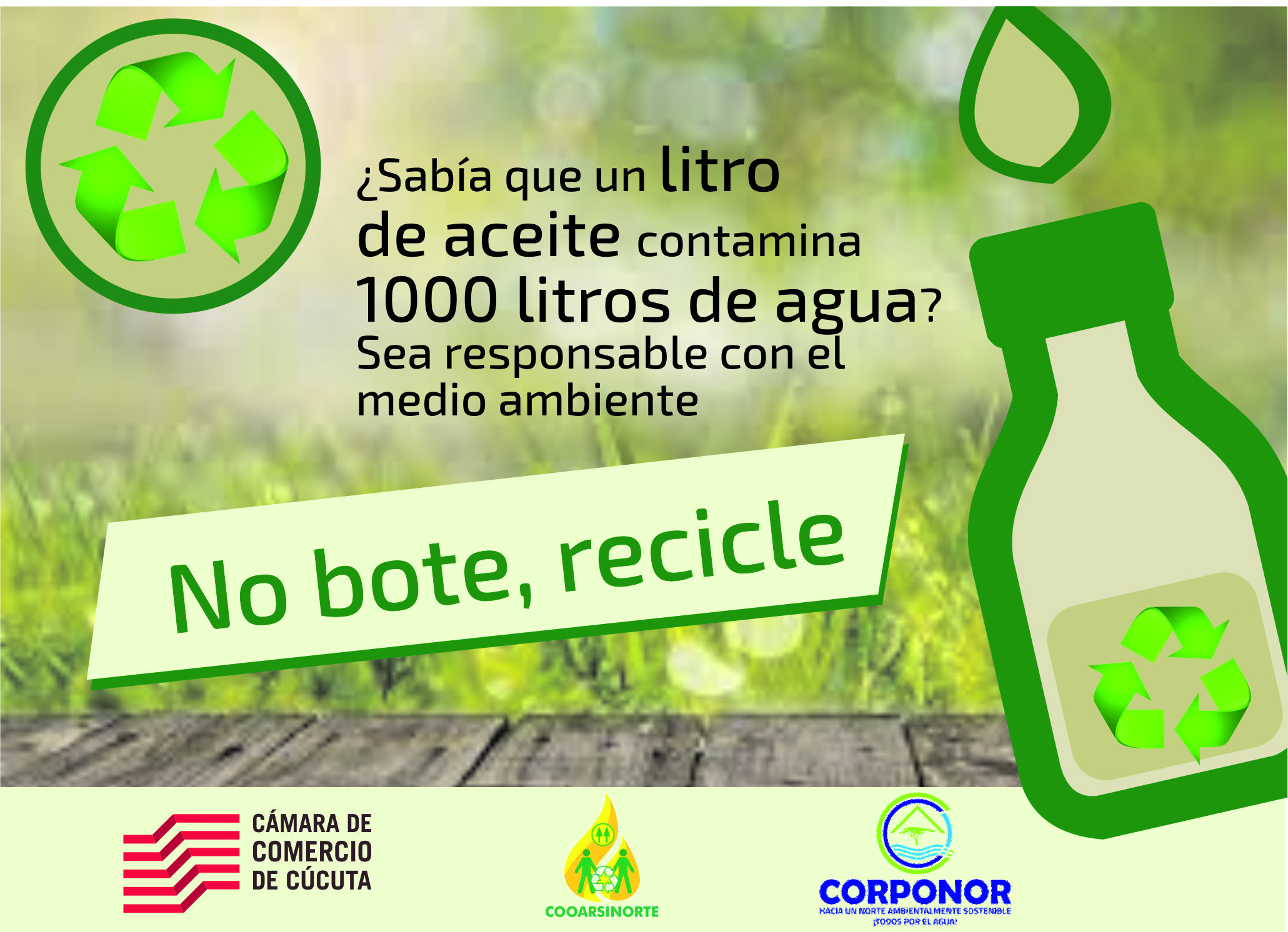 No bote, recicle